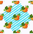 seamless pattern witnpumpkin blue paint stripe on vector image vector image
