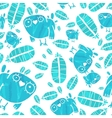 Seamless Watercolor Pattern with Birds and vector image vector image