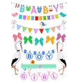 Set baby bunting vector image vector image