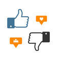 set like icon like counter notification icon vector image vector image