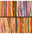 Set of four colourful line background vector image vector image