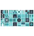 set squaer abstract pictures vector image