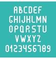 Simple colorful font Complete abc alphabet set vector image vector image