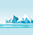 snow mountains with ice vector image