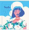 spring sale banner sale poster sale flyer 50 vector image vector image