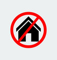 stop house building icon vector image vector image