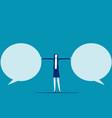 stop speech bubble business communication flat vector image vector image