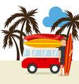 surfing hawaii vector image vector image