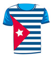 t-shirt with flag cuba vector image