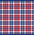 tartan plaid seamless pattern background vector image vector image