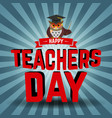 teachers day vector image