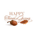 thanksgiving lettering design vector image vector image