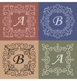trendy mono line style - monogram design element vector image
