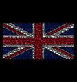 united kingdom flag pattern of retort icons vector image