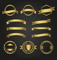 variety golden decorative elements vector image vector image
