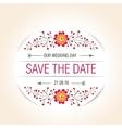 wedding floral badge vintage label vector image vector image