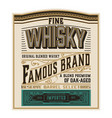whiskey label for packing layered vector image vector image