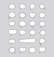 white bubble speech set vector image vector image