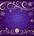 winter violet christmas frame vector image vector image