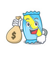 with money bag candy character cartoon style vector image vector image