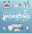 working icons for business in office design vector image vector image