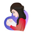 young asian mother with baby in her hands vector image vector image