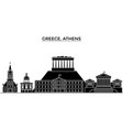 greece athens architecture city skyline vector image