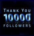 10 000 followers pixels vector image