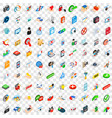 100 cyber security icons set isometric 3d style vector image vector image