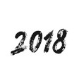 2018 new year banner with brush numbers vector image