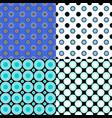 abstractal circle pattern design background set vector image vector image