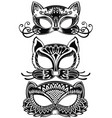 animal face masks vector image vector image