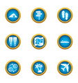 ascent icons set flat style vector image vector image