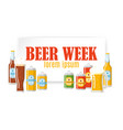 beer festival colorful banner vector image vector image