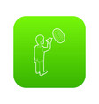 businessman aiming at target icon green vector image
