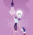 businessman change light bulb changed idea vector image vector image