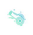 cannon icon design vector image vector image