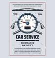 car service and mechanic diagnostics vector image vector image