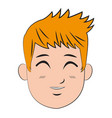cartoon character man young person vector image vector image