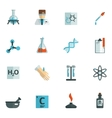 Chemistry Icons Flat vector image