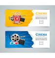 cinema movie banner poster design template film vector image vector image