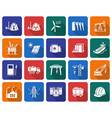 collection of rounded square icons industries vector image vector image