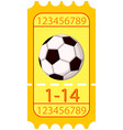 colorful cartoon football soccer ticket icon vector image