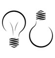 contour logo of the incandescent lamp the vector image vector image