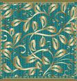 decorative vintage gold floral pattern vector image