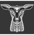 Deer head tattoo mehendi vector image vector image