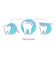 dental care concept icon vector image