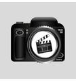 digital photo camera clapper film pin vector image