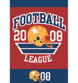 Distressed football league poster with helmet vector image vector image