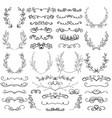 drawn swirls scrolls dividers laurels brackets vector image vector image